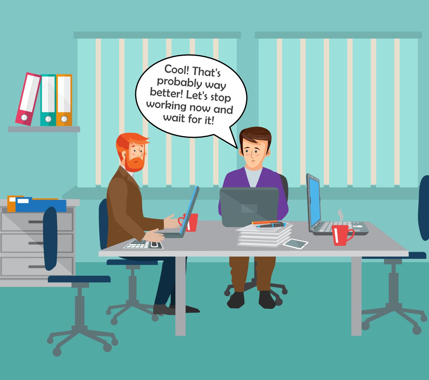 Cartoon biases reeks 3-panel 2: marketing - customers